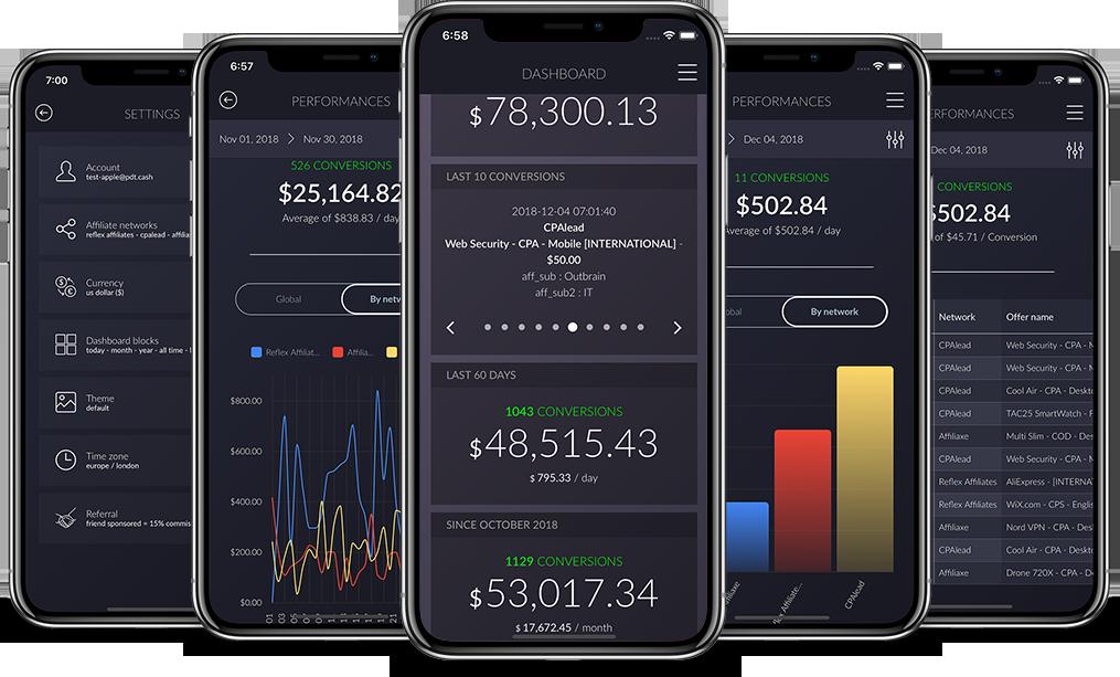 Screenshot of PDT Cash on iPhone